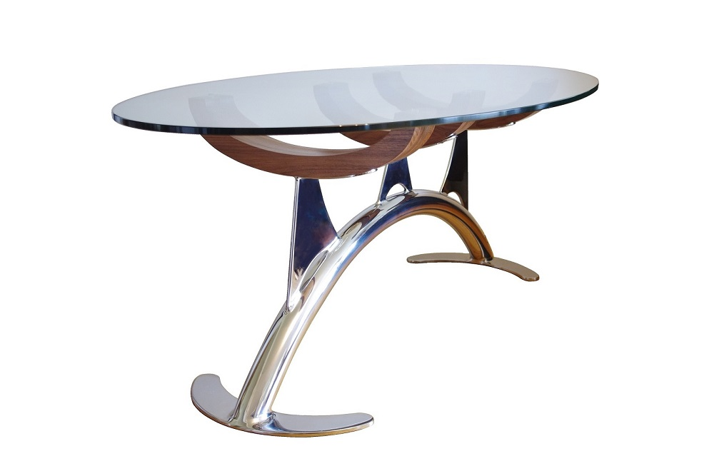 oval glass coffee table