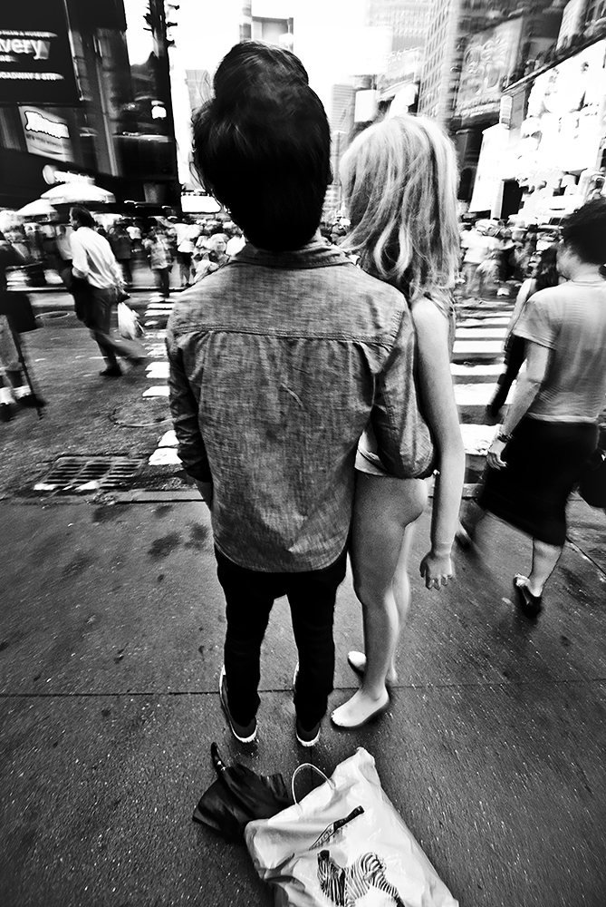 A Man and his Mannequin in Times Square- Photo by Chris Brady