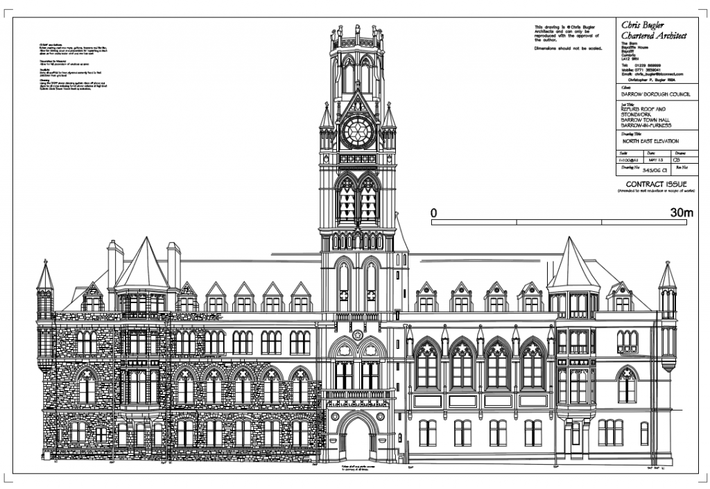 Repairs and replacement to roof and walls; Town Hall