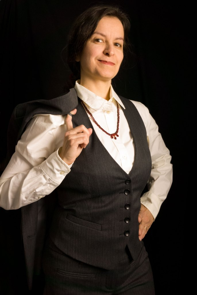 Carmilla Necklace worn with Business Professional outfit