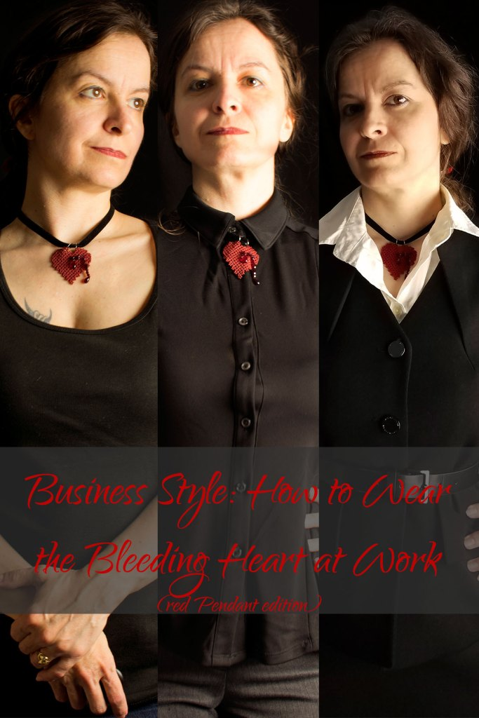 Business Style: How to Wear the Bleeding Heart Pendant at Work (Red Pendant Edition)