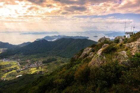 The view from Mireuk Mountain, Tongyeong