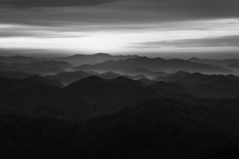Layers of ridgelines in Wolchulsan National Park