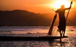 Intha fisherman on Inle Lake, Myanmar