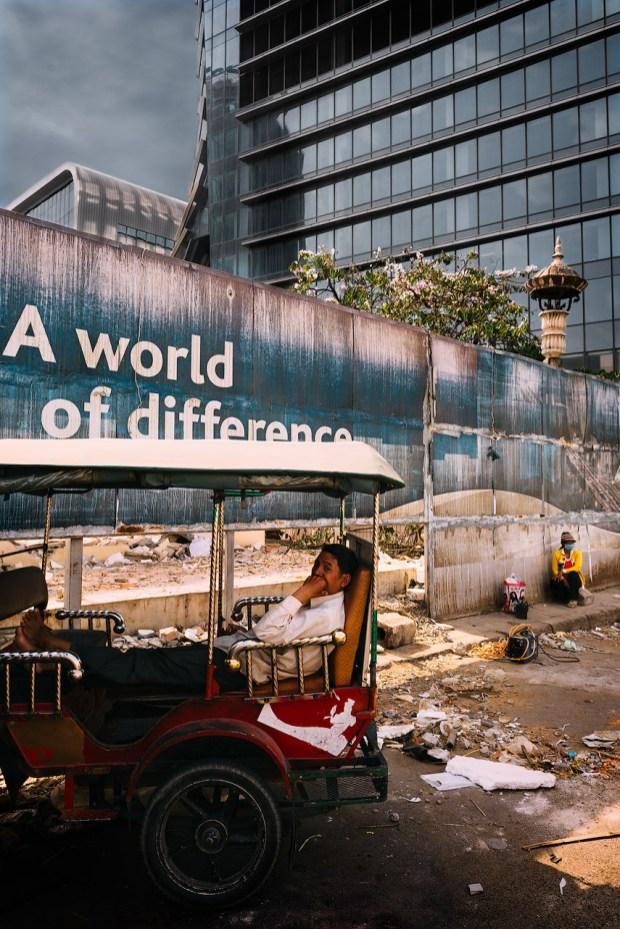 Contrasting scenes in Phnom Penh