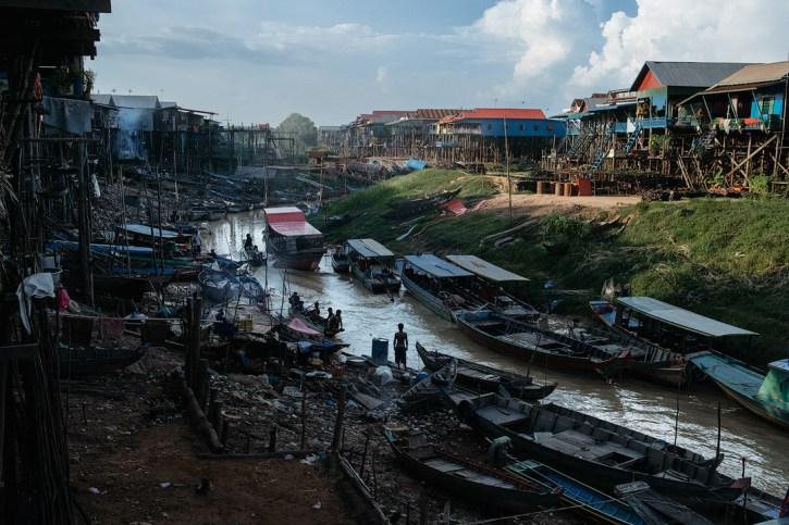 Kampong Phluk in the dry season