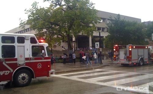 University of Manitoba Evacuated