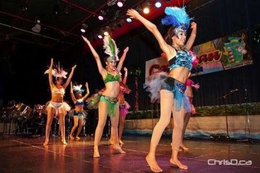 Dancers perform at Folklorama's Caribbean Pavilion at the Franco-Manitoban Cultural Centre in St. Boniface. (TED GRANT / CHRISD.CA)