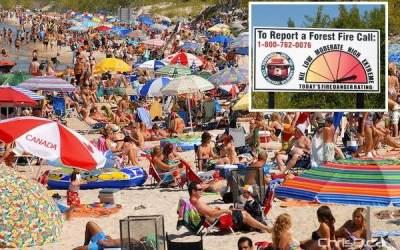 Fire Ban Not Putting Dent in Beach, Park Attendance
