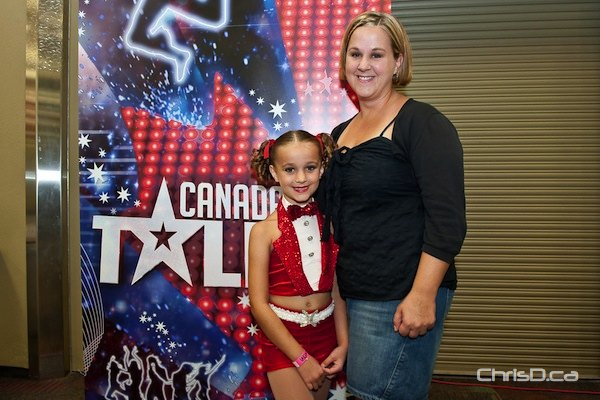 Myah, 8, and her mother, Michelle, waited hours in line at the 'Canada's Got Talent' auditions on Friday. Myah has been dancing for five years and hoped to impress the judges. (TED GRANT / CHRISD.CA)
