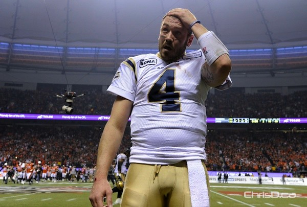 Winnipeg Blue Bombers quarterback Buck Pierce has been traded to the B.C. Lions. (TODD KOROL / REUTERS FILE)