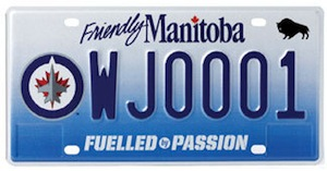 Winnipeg Jets licence plates will be available December 12. (NHL.COM)