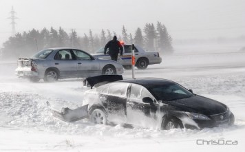 The aftermath after a multi-vehicle crash on the Trans-Canada Highway Thursday. (STAN MILOSEVIC / MANITOBAPHOTOS.COM)