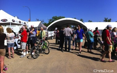 Farmers' Market Celebrating New Washrooms by Cutting TP