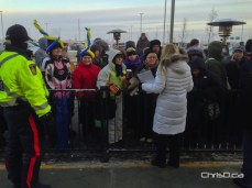 Shoppers wait in line outside for IKEA Winnipeg to open on Wednesday morning. (CHRISD.CA)