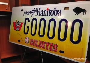 Winnipeg Goldeyes Licence Plate