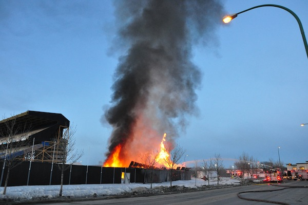 Canad Inns Stadium Fire