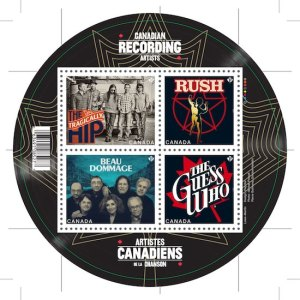Canadian Recording Artist Stamp Series