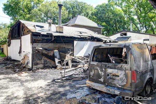 Garwood Avenue Garage Fire