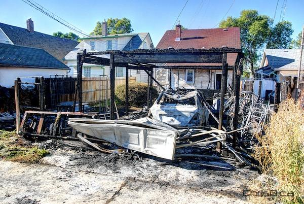 Pritchard Avenue Garage Fire