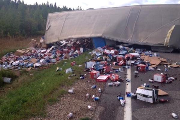 Highway 10 Beer Crash