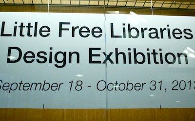 Little Free Libraries Design Exhibition a Big Draw