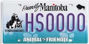 Winnipeg Humane Society Licence Plate