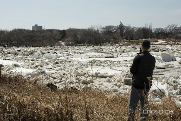 Red River Ice Jam