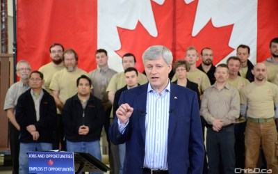 Harper Says Canada Unlikely to Match United States on Emission Reduction Targets