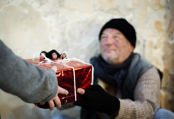 Homeless Man - Christmas