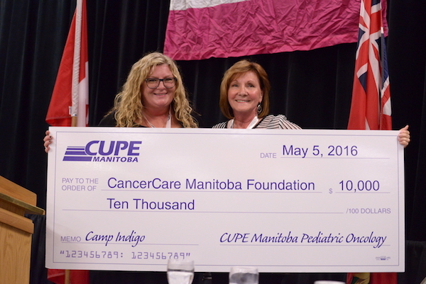 CUPE - CancerCare Donation