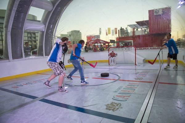 Molson Canadian Human Bubble Hockey