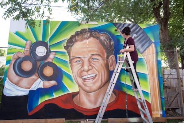 Billy Mosienko Mural