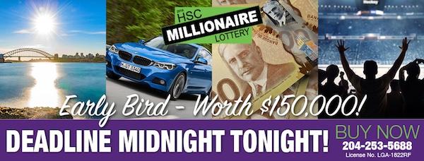 HSC Millionaire Lottery Ad