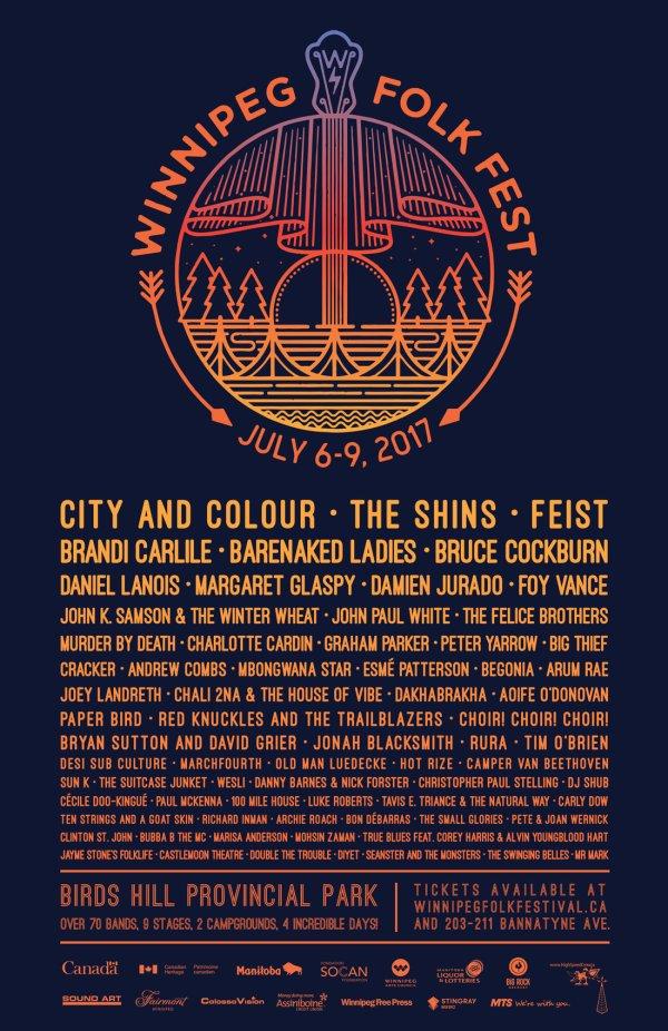 Winnipeg Folk Festival Lineup