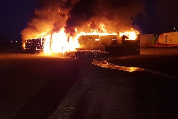 Hudson Bay Railway Yard Fire