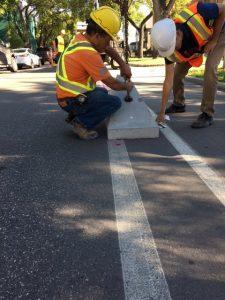 Adjustable Bike Lane Curb