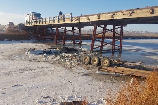 Truck Bridge Accident