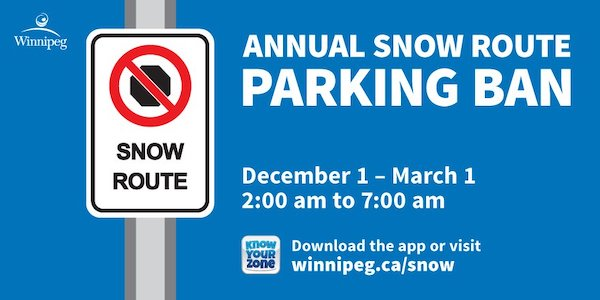 Winnipeg Snow Route Parking Ban