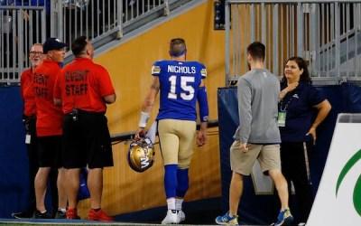 Bombers Quarterback Matt Nichols on 6-Game Injured List with Upper Body Injury