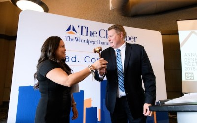 Jessica Dumas Sworn in as New Winnipeg Chamber Chair