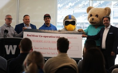 Blue Bombers, Red River Co-op Come Together for Children's Hospital