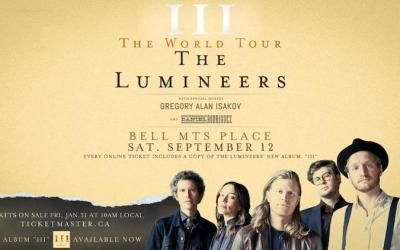 The Lumineers to Play Bell MTS Place in September