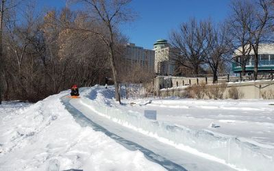 New 'Ice Chute' Slide a Cool Addition at The Forks
