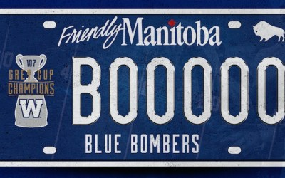 Blue Bombers Launch Grey Cup Champions Licence Plates