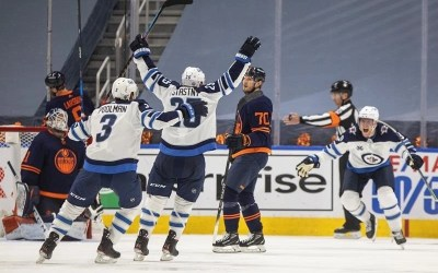 Stastny Scores OT Winner, Jets Win Both Games in Edmonton for Series Lead