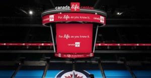 Canada Life Centre Score Clock