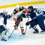 Connor Scores Twice, Powers Undermanned Winnipeg Jets to 5-1 Win Over Anaheim Ducks