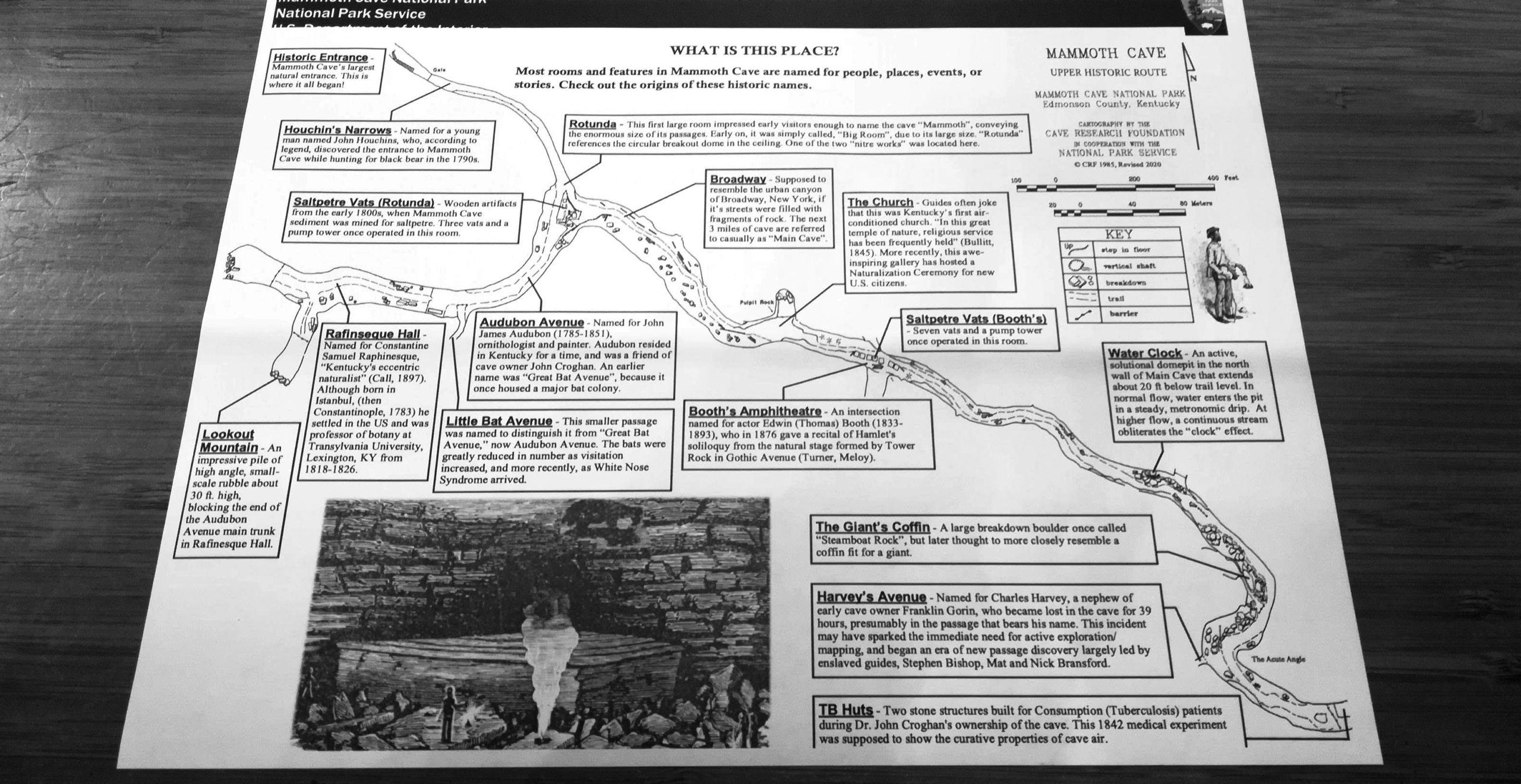 Mammoth Cave Tour Photos Map Kentucky