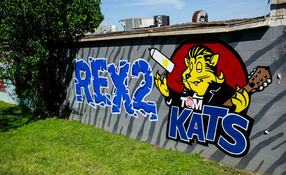 Yazoo Brewery Mural Graffiti Nashville